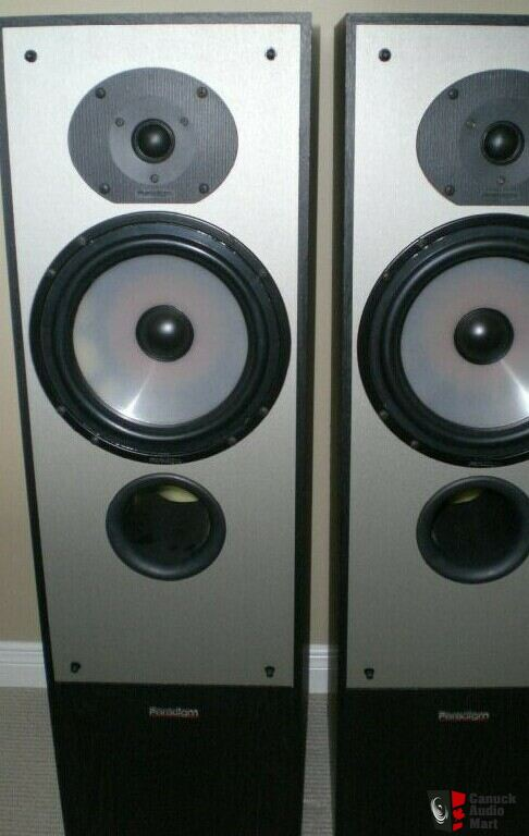 Paradigm 5semk3 Compact Tower Speakers For Sale Photo