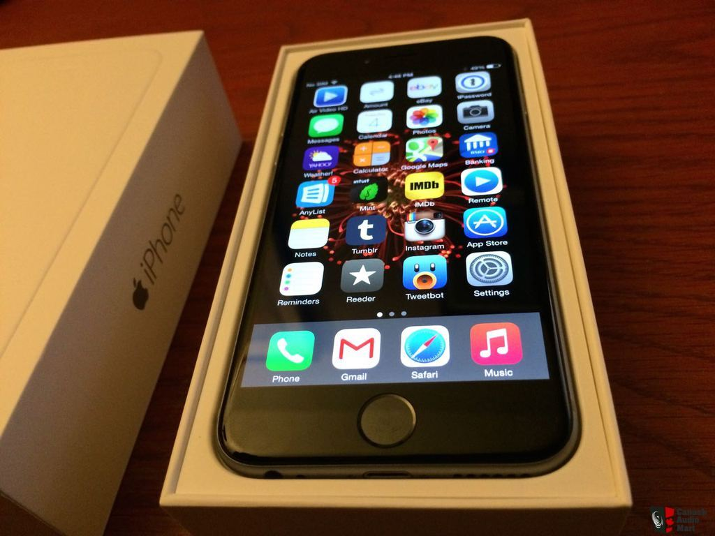 iphone 6 128gb space grey unlocked like new plus red. Black Bedroom Furniture Sets. Home Design Ideas
