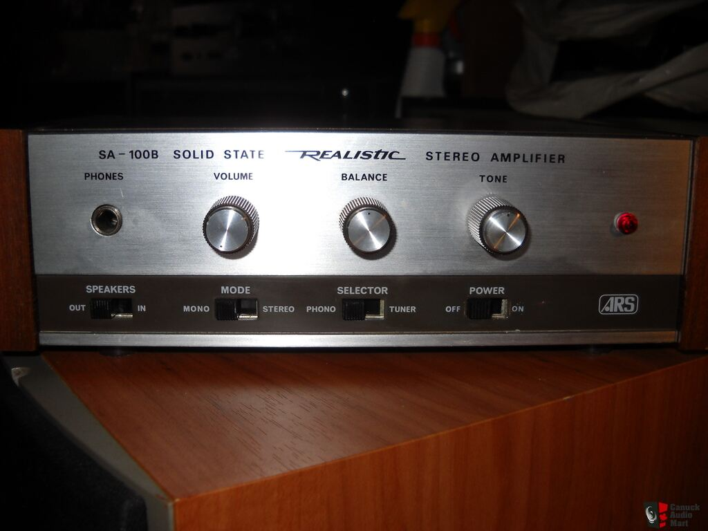 Vintage Realistic Sa 100b Amplifier Sold To Ray Photo