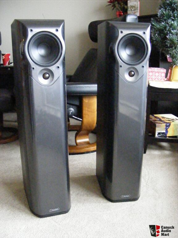 Mission M52 Tower Speakers and Klipsch 8 inch Subwoofer