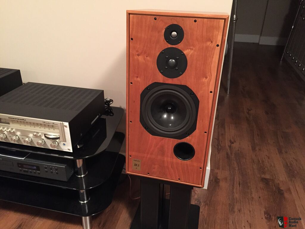 harbeth shl5 high end speakers cherry veneer sold. Black Bedroom Furniture Sets. Home Design Ideas