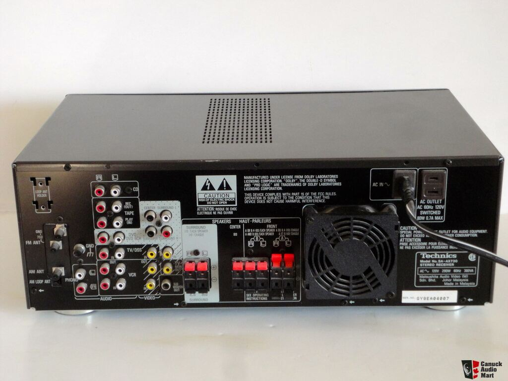 technics sa ax720 user manual