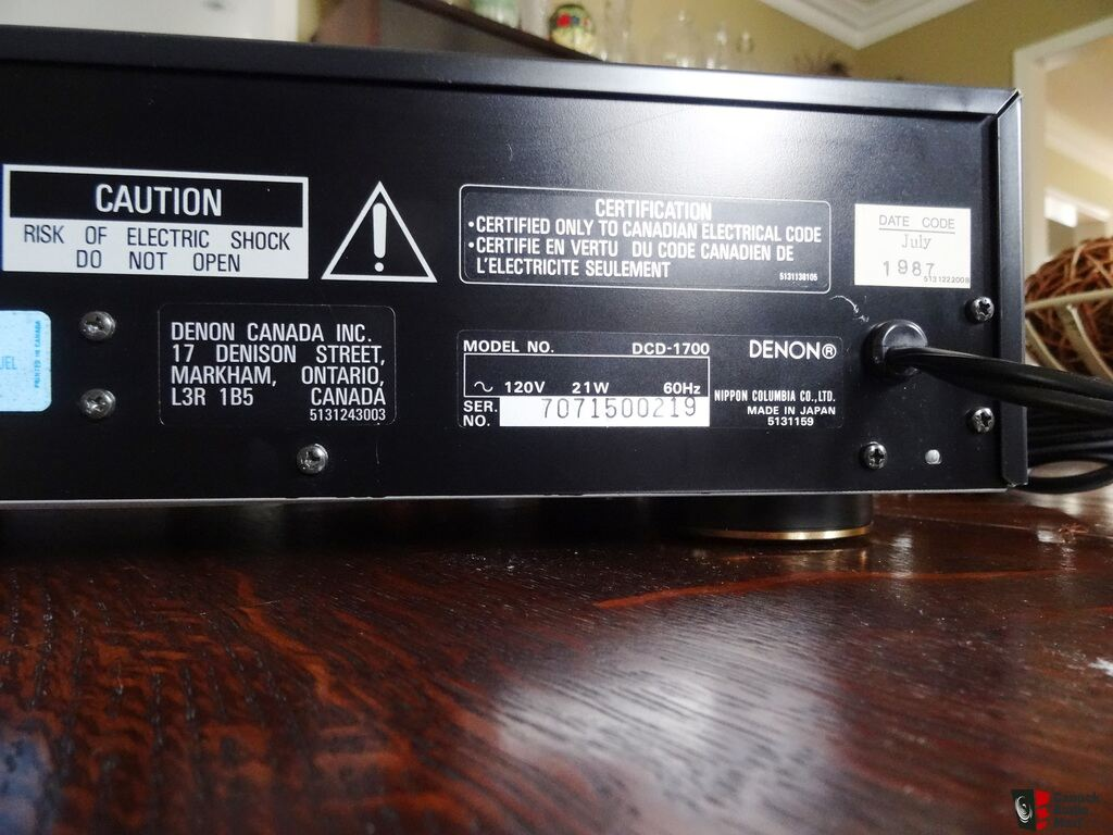denon dcd 1700 cd player with original manual photo 940630 us rh usaudiomart com denon avr 1700 manual pdf denon dcd-1700 service manual