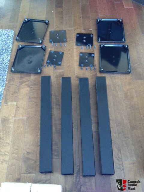 speakers in target. 2 (1 set) of piano black usher s-520 speakers with target hs70 in