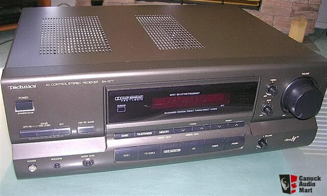 Technics SA-G77 A/V Dolby Surround Pro-logic stereo receiver.