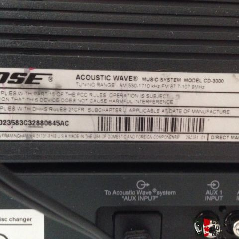 Bose Acoustic Wave CD3000 w/5 Disc Changer Photo #955483