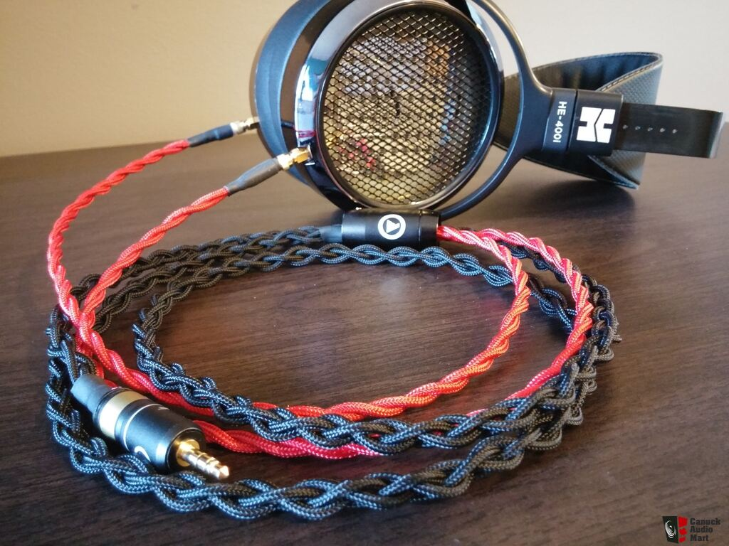 5 5ft Custom HiFiMAN cable  Viablue splitter and 1/8