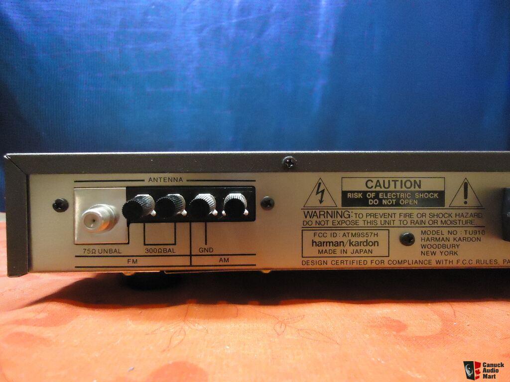 harman kardon tu910 tu 910 am fm stereo tuner in box. Black Bedroom Furniture Sets. Home Design Ideas