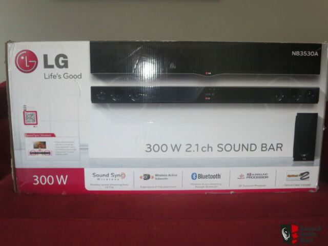 lg nb3530a 300w 2 1 ch sound bar w wireless subwoofer photo 984902 us audio mart. Black Bedroom Furniture Sets. Home Design Ideas